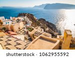 santorini greek island in the... | Shutterstock . vector #1062955592