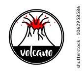 volcano illustration in a...   Shutterstock .eps vector #1062958586