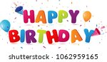 happy birthday background  | Shutterstock .eps vector #1062959165