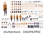 young fat curvy woman or plus... | Shutterstock .eps vector #1062963902