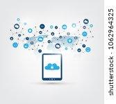 cloud computing design concept  ...   Shutterstock .eps vector #1062964325