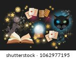 astrology and alchemy.... | Shutterstock .eps vector #1062977195