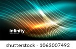 abstract wave on dark... | Shutterstock .eps vector #1063007492