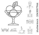 restaurant and bar outline... | Shutterstock .eps vector #1063007966
