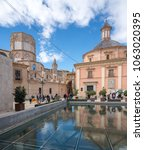 valencia  spain   march 16 ... | Shutterstock . vector #1063020395