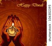 happy diwali background | Shutterstock .eps vector #106302395