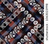 seamless pattern patchwork...   Shutterstock . vector #1063023998