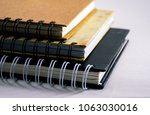 spiral diaries for office and... | Shutterstock . vector #1063030016