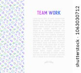teamwork concept with thin line ... | Shutterstock .eps vector #1063030712