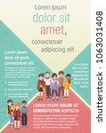 template for advertising... | Shutterstock .eps vector #1063031408