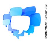 Cloud Of Text Bubbles  Blue And ...