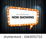 theater sign on curtain... | Shutterstock .eps vector #1063052732