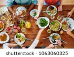 eating  food and leisure... | Shutterstock . vector #1063060325