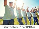 volunteering  charity and... | Shutterstock . vector #1063060442