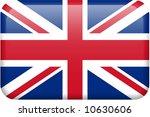 British Flag Rectangular Butto...
