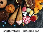 unhealthy products. food bad... | Shutterstock . vector #1063061465