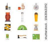 set of icons on theme of travel ... | Shutterstock .eps vector #1063063292