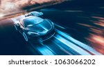 Stock photo high speed sports cars racing futuristic concept with grunge overlay generic and brandless 1063066202