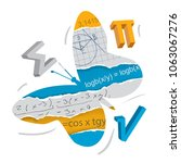 easy learning of mathematics.... | Shutterstock .eps vector #1063067276