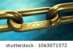 gold chain with a sign of... | Shutterstock . vector #1063071572