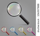 magnifying glass set color ... | Shutterstock .eps vector #106307888