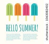 summer popsicle composition  ...   Shutterstock .eps vector #1063082402
