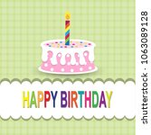 happy birthday card | Shutterstock .eps vector #1063089128