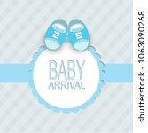 baby arrival card | Shutterstock .eps vector #1063090268