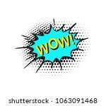 comic speech bubble with  text... | Shutterstock .eps vector #1063091468