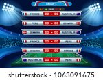russia 2018 football world cup... | Shutterstock .eps vector #1063091675