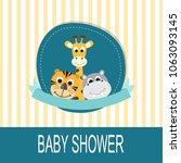 baby shower card | Shutterstock .eps vector #1063093145