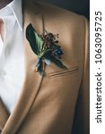 groom in a jacket. the morning...   Shutterstock . vector #1063095725
