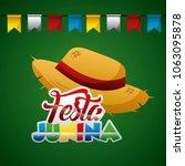 festa junina summer parties | Shutterstock .eps vector #1063095878