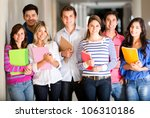 casual group of students... | Shutterstock . vector #106310186