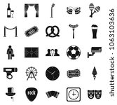 occasion icons set. simple set... | Shutterstock . vector #1063103636