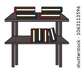 shelves with books icon | Shutterstock .eps vector #1063113596
