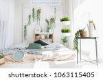 light modern scandinavian... | Shutterstock . vector #1063115405