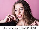 stomatology. orthodontic... | Shutterstock . vector #1063118018