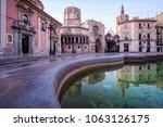 easter morning in the plaza de... | Shutterstock . vector #1063126175