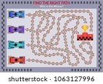 find the right path for winner... | Shutterstock .eps vector #1063127996
