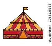 circus tent isolated icon | Shutterstock .eps vector #1063135988