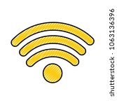 wifi signal isolated icon | Shutterstock .eps vector #1063136396