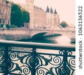 bridge over the seine   Shutterstock . vector #1063136522