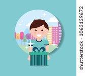 kids happy birthday | Shutterstock .eps vector #1063139672