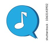 speech bubble with musical note   Shutterstock .eps vector #1063143902