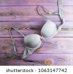 female bra of light lilac... | Shutterstock . vector #1063147742