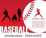 baseball background   vector... | Shutterstock .eps vector #106316345