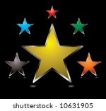 collection of star shaped...   Shutterstock .eps vector #10631905