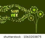 green vector dandelion herbs ...   Shutterstock .eps vector #1063203875