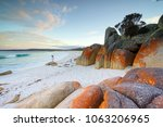 the bay of fires  east coast... | Shutterstock . vector #1063206965